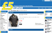 Five Pounds OR Less - high street clothing from many famous shops and labels all for 5 pounds or less